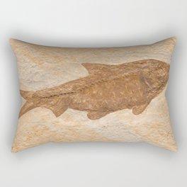 Knightia Herring Fish Fossil Rectangular Pillow
