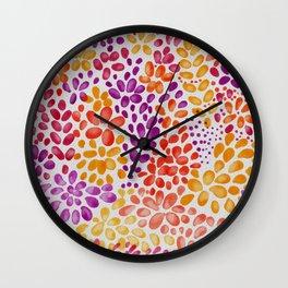Watercolor flowers panno Wall Clock