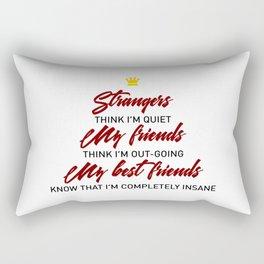 Best Friends Forever Besties Friendship BFF Rectangular Pillow