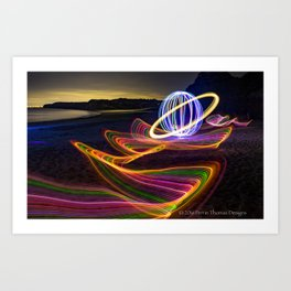 SATURN SURFING Art Print