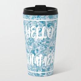 Hello Summer Blue  Water Travel Mug