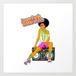Roller Disco Art Print
