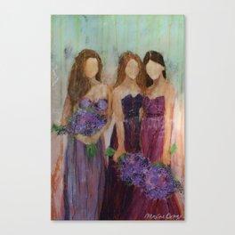 Bridesmaid Sista Trio Canvas Print