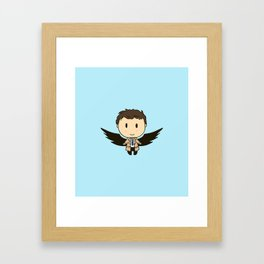 Cas With Wings Framed Art Print