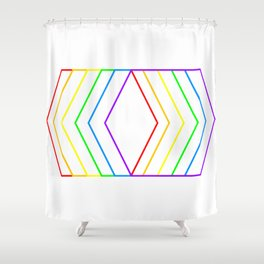Rainbow Shape of You Shower Curtain
