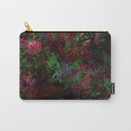 Purple Warfare - Abstract purple, pink, green and black abstract Carry-All Pouch