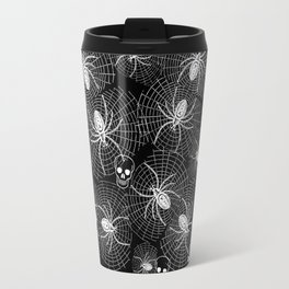 Spiders and Skulls Inverted Travel Mug