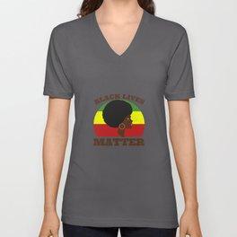 Black Lives Matter Movement Unisex V-Neck
