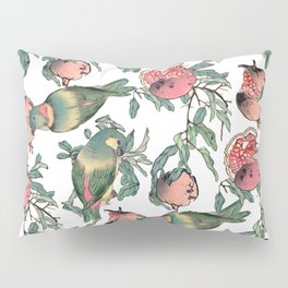 Pomegranate and Lovebirds Pillow Sham