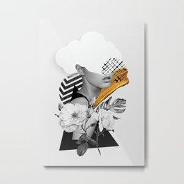 collage art (girl) Metal Print