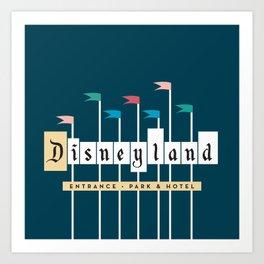 Theme Park Entrance | Navy Art Print