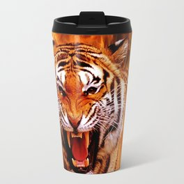 Tiger and Flame Travel Mug