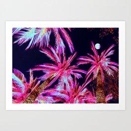 Moonlit Plants Art Print