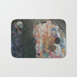 Life and Death - Gustav Klimt Bath Mat