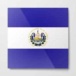 El Salvador flag emblem Metal Print