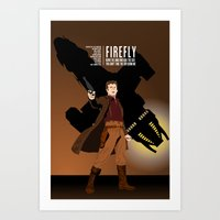 firefly Art Prints featuring FIREFLY by booj