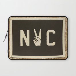 NYC Peace Sign (Color) Laptop Sleeve