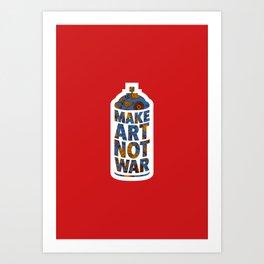 Make Art Not War (African print red) Art Print