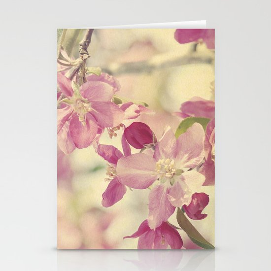 Pink Crabapple Blossom Stationery Cards