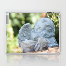 Dreaming angel in the garden Laptop & iPad Skin