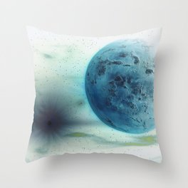 Space Drain Throw Pillow