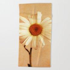 Caramel Daisy Beach Towel