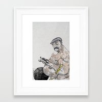 knight Framed Art Prints featuring Knight by Crooked Octopus