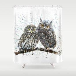 little owl's Shower Curtain