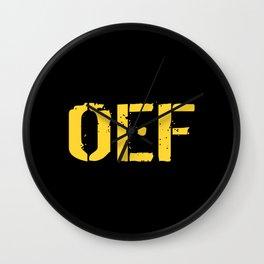 U.S. Military: OEF Wall Clock