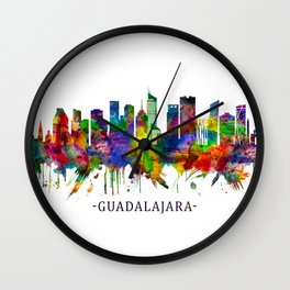 Guadalajara Mexico Skyline Wall Clock