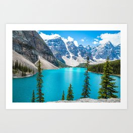 Moraine Lake Landscape Art Print