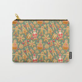 Gingerbread Man Pattern Carry-All Pouch