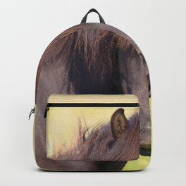 Watercolor Horse 19, Icelandic Pony, Höfn, Iceland, HuhWhat? Backpack