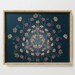 Pretty Pastels Dark Floral Watercolors Serving Tray