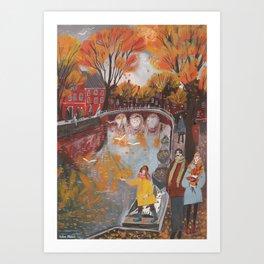 The tumult of autumn Art Print