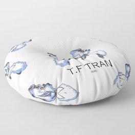 T.F TRAN BLUE SNAKE IRIS Floor Pillow