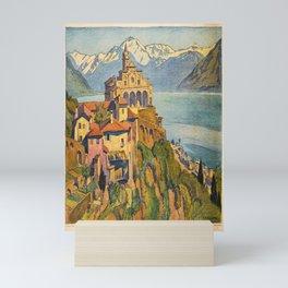 altes Plakat madonna del sasso locarno Mini Art Print