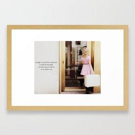 pretty in pink one Framed Art Print