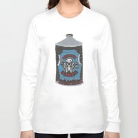 die hard Long Sleeve T-shirts featuring Die Hard Lager by Moto