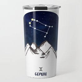 Astrology Gemini Zodiac Horoscope Constellation Star Sign Watercolor Poster Wall Art Travel Mug