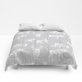 Woodland Critters in Grey Comforters