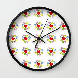 heart 3-heart,love,romantism,girl,sweet, women,romantic,cute,beauty,multicolor Wall Clock