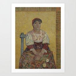Vincent van Gogh - The Italian Woman (1887) Art Print