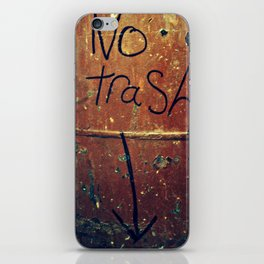 No Trash iPhone Skin