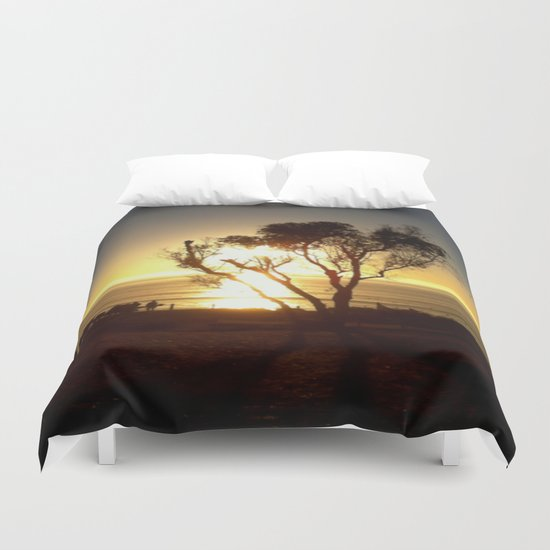 Fire and Water - a California sunset Duvet Cover