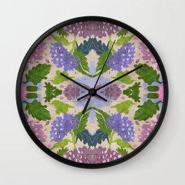Hortensias 2 Wall Clock