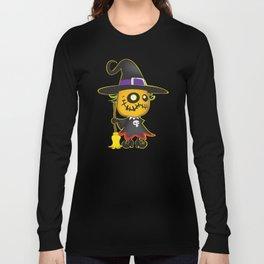 Halloween pumpkin witch Long Sleeve T-shirt
