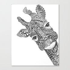 Zentangle Giraffe Canvas Print