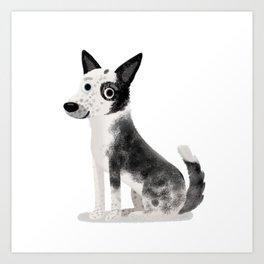 """Custom Cute Dog Art """"Lgo"""" Art Print"""