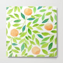 Naranjas de Valencia Metal Print